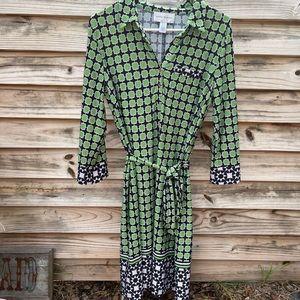 Donna Morgan retro style shirt dress